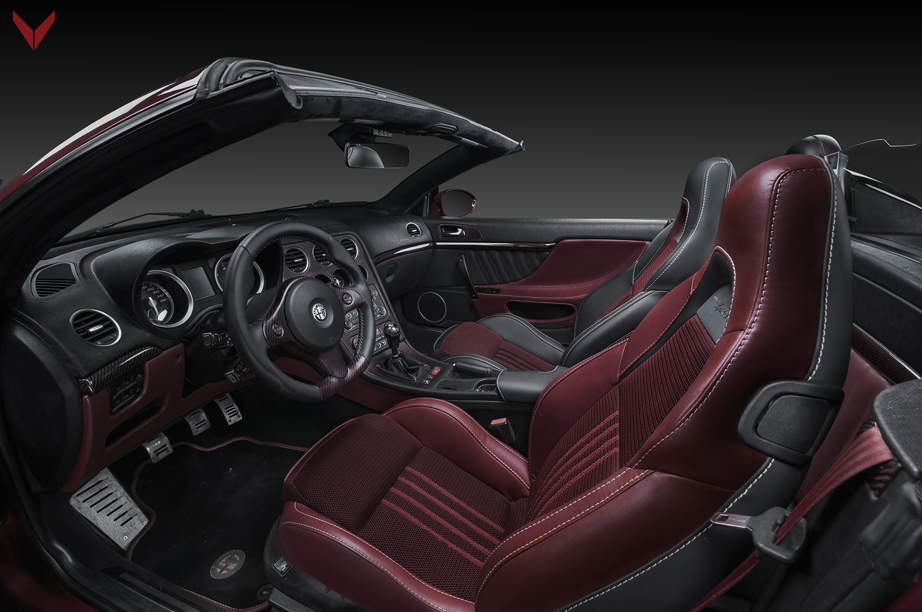 Alfa Spider Fibra de Carbono Rosso by Vilner
