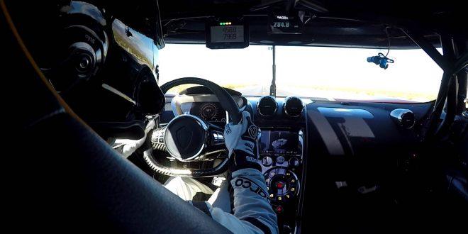 Повозете се в кокпита на Koenigsegg Agera RS с 458 км/ч [Видео]