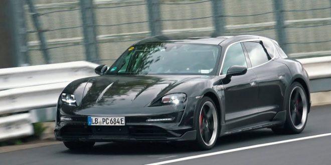 "Тестват комбито Porsche Taycan Cross Turismo на ""Нюрбургринг"" [Видео]"