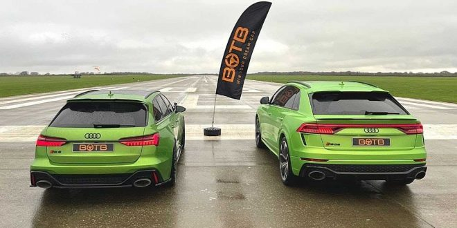 Audi RS6 Avant срещу Audi RS Q8 [Видео]