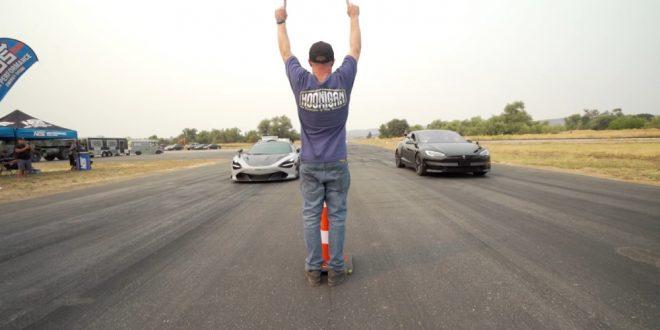 McLaren 720S срещу Tesla Model S Plaid
